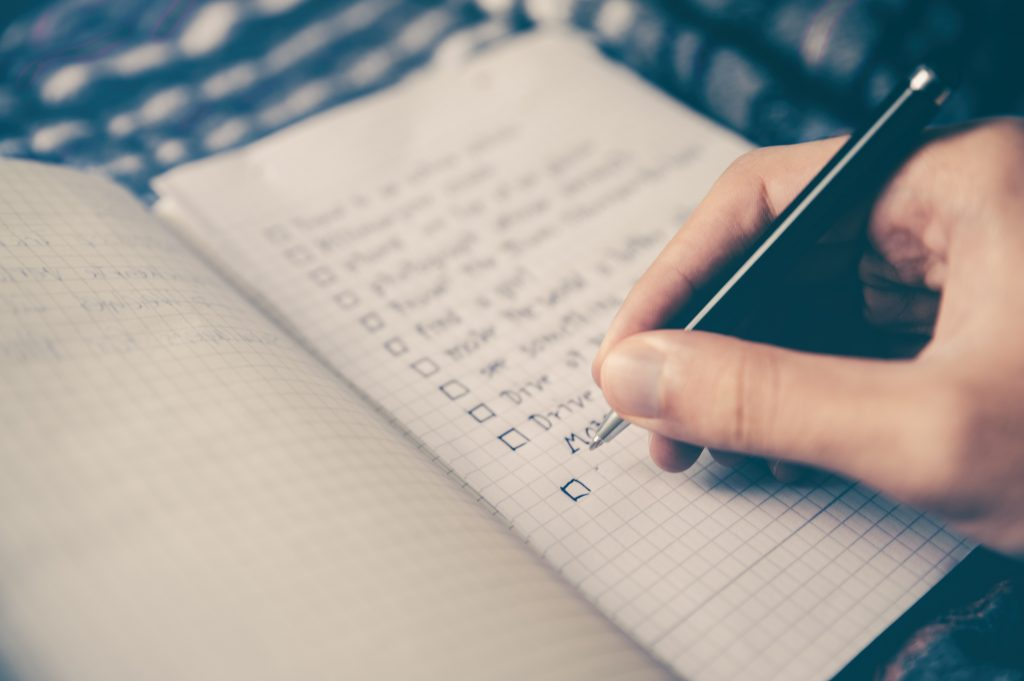 A to do list to get things done